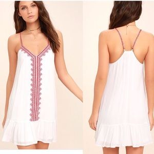 Lulu's Sweeten the Deal Embroidered Dress